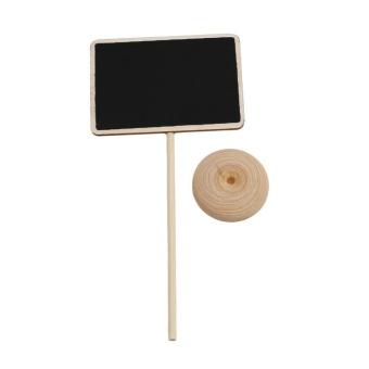 LALANG Mini Rectangular Shape Blackboard Chalkboard with Stand forMessage Board Signs - intl - 2