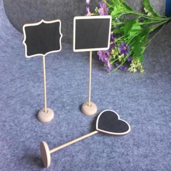 LALANG Mini Rectangular Shape Blackboard Chalkboard with Stand forMessage Board Signs - intl - 5
