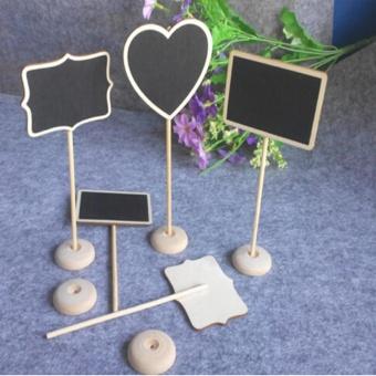 LALANG Mini Rectangular Shape Blackboard Chalkboard with Stand forMessage Board Signs - intl - 4