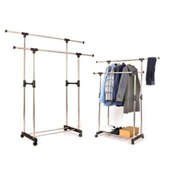 L&H DIY2s High Quality Double-Pole Clothes Rack - 4