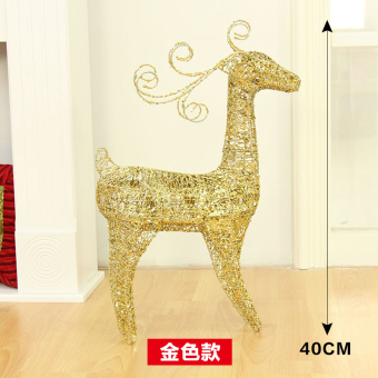 Lang Sen 40cm gold Christmas deer small Christmas deer Ornaments