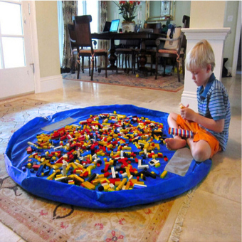 Large Portable Kids Toys Organizer Storage Bag Play Mat For Lego Rug Toy Box XL