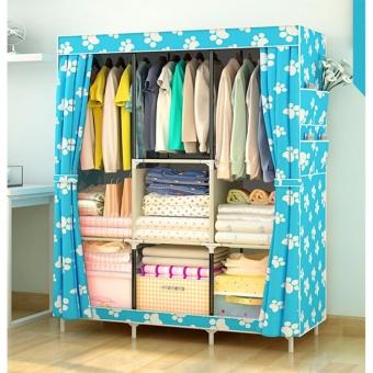 Large Size Quality Fashion Simple Multifunction Cloth Wardrobe Storage Cabinets C-77130 - 2