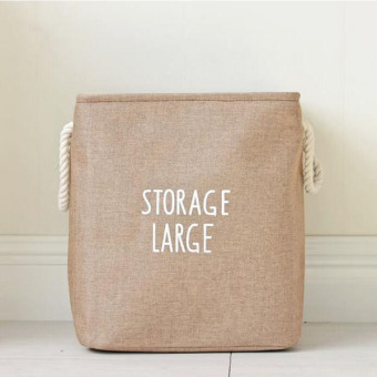 Large Waterproof Washing Storage Basket Folding Laundry Hamper BagToys Storage Bags Foldable Clothes Pouch Storages Organizer ( Brown) 36x26x40cm - intl