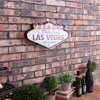 Las Vegas-style Decoration Metal Painting Neon Welcome Signs LedBar Wall Decor Hanging Metal Sign 49x5x25.5cm - intl - 3