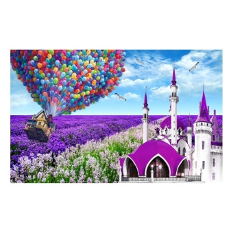 Lavender Cottage 5D Diamond DIY Painting Craft Home Decor - intl