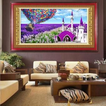 Lavender Cottage 5D Diamond DIY Painting Craft Home Decor - intl - 2
