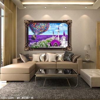 Lavender Cottage 5D Diamond DIY Painting Craft Home Decor - intl - 4