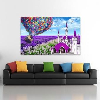 Lavender Cottage 5D Diamond DIY Painting Craft Home Decor - intl - 5