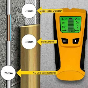 LCD Screen Intelligent Stud Scanner AC Live Wire Finder Wood MetalDetector - intl