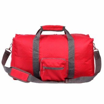Le Organize Alphra Ripstop Foldable Small Duffle Bag - Red - 2