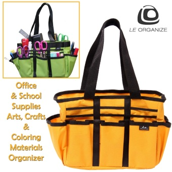 Le Organize Tragen Canvas Carry-All Organizer - Yellow Gold