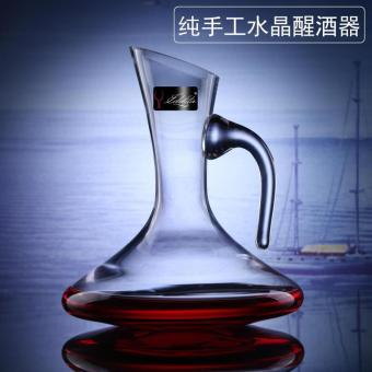 Lead-free crystal decanter