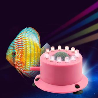 LED Air Curtain Stone Bubble Disk and Aquarium light Colorful Bubble Lamp Submersible Light Fish Tank Aquatic Accessory - intl - 5