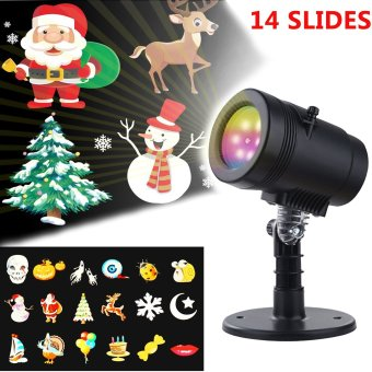 LED Christmas holiday lights projector outdoor 14 pattern