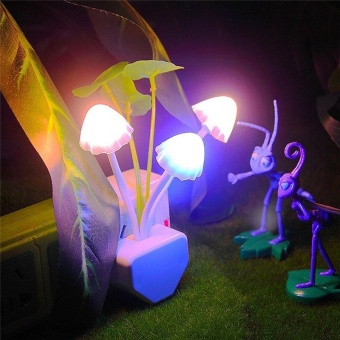 LED Color Mushroom-Shaped Night Lamp Wall Lamp - intl Price Philippines
