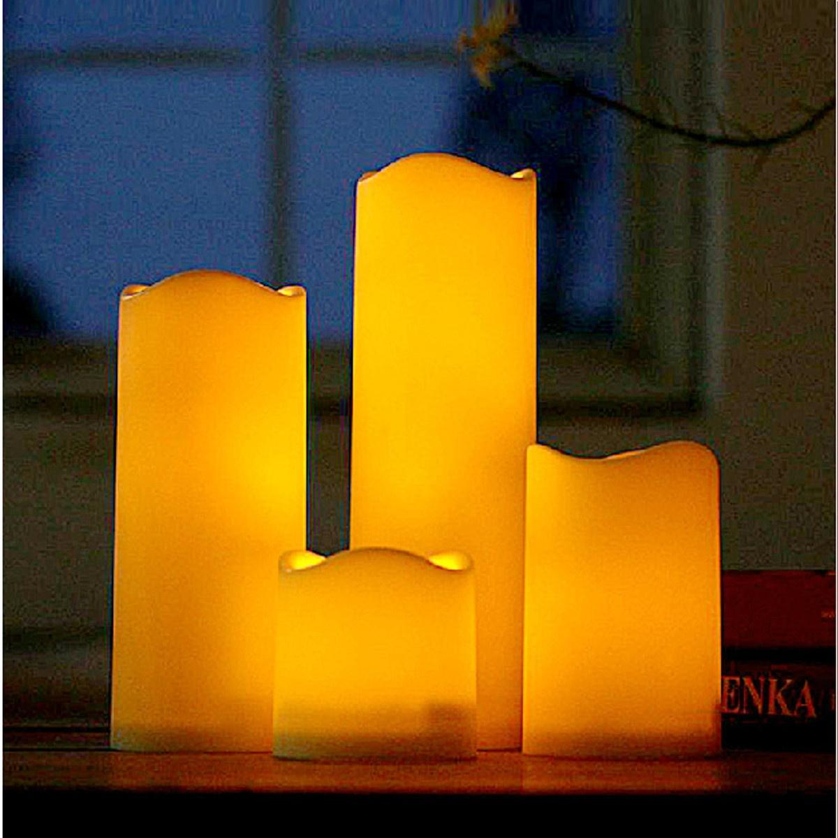 ... LED Flameless Wax Mood Candles Lights For Home Wedding Party size:7.5 cm - intl ...