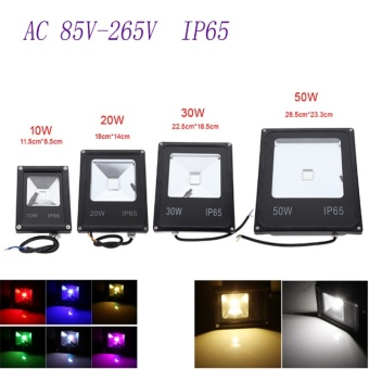 Led Floodlights 10W Lighting IP65 Outdoor Spotlights RGB with Remote Controller Spot Flood Lamp (Multi-Color) - Intl - 2
