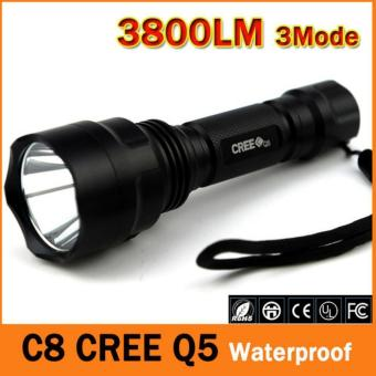 LED hunting Flashlight Torch Hight Power Cree Led Torch C8 Creelight Waterproof - Intl