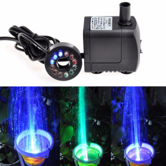 LED Light Submersible Water Pump Aquariums KOI Fish Pond FountainSump Waterfall - intl