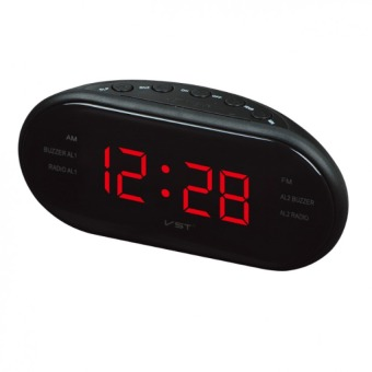 LED Luminous Radio Alarm Clock Multi-radio AM and FM Dual-channelGift