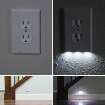 LED Night Angel Light Wall Outlet Face Hallway Bedroom BathroomSafty Light - intl Price Philippines
