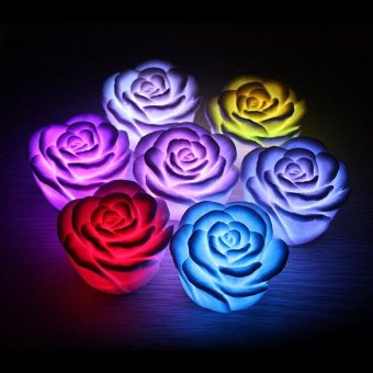 LED Romantic Rose Flower Color changed Lamp Light F - intl Price Philippines