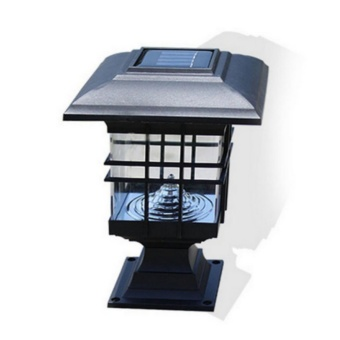 LED Solar Power Outdoor Garden Yard Light Lawn Path Landscape LampWhite Light Black - intl