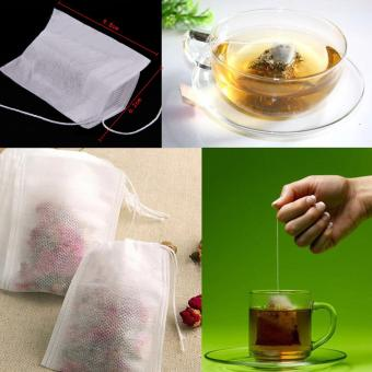Leegoal Disposable Drawstring Seal Filter Empty Paper Tea Bags(White,M Size,Set of 100) - intl - 5