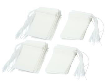 Leegoal Disposable Drawstring Seal Filter Empty Paper Tea Bags(White,M Size,Set of 100) - intl