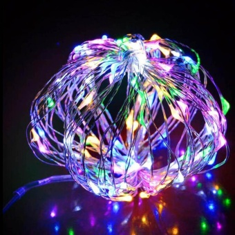 leegoal LED Fairy String Lights Indoor And Outdoor 5m 50 LEDs Copper Wire Light Battery Powered For Christmas Bedroom Garden Party Wedding Decoration Multicolor - intl - 2