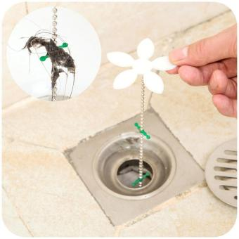 leegoal Shower Drain Hair Catcher Drain Hair RemoverChain,44cm/17inch,White - intl