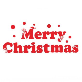 Letter Merry Christmas Wall Sticker Window Decor Red Art Mural Home Decals Removeable Living Waterproof - Intl