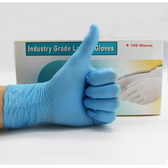 Liberty Nitrile Industrial Glove, Powder Free, Disposable, Blue Box of 100 - intl - 2