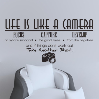 Life Is Like A Camera Quote Wall Stickers Home Decals Home Study Decoration DIY - 3