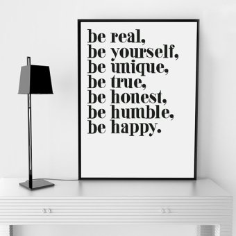 Life Quote Wall Art Print Poster, Wall Pictures For HomeDecoration, Frame Not Include Canvas Art FA142 Price Philippines