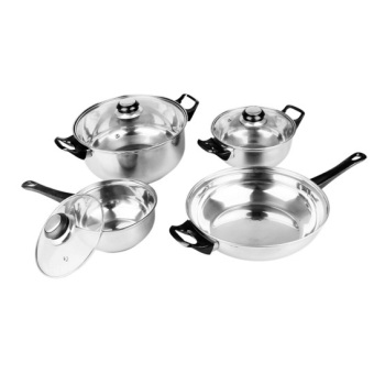 Lifestyle EX-CW07 Stainless Steel Cookware 7-piece Set (Silver)