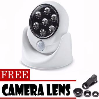 Light Angel Motion Activated Cordless LED Night Sensor Light(White)with FREE Camera Lens (Black) Price Philippines