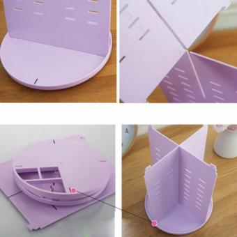 Limited Plastic Cosmetic Storage Box 360 Degree Rotation Makeup Organizer Boxes Cosmetics Receive A Case Bins - intl - 5