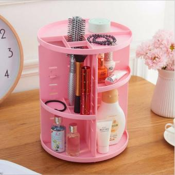 Limited Plastic Cosmetic Storage Box 360 Degree Rotation Makeup Organizer Boxes Cosmetics Receive A Case Bins - intl - 2