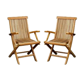 Linden Teak Handcrafted Solid Teak Wood Folding Chair with armFurniture (Gold Teak Series - indoor design) Price Philippines