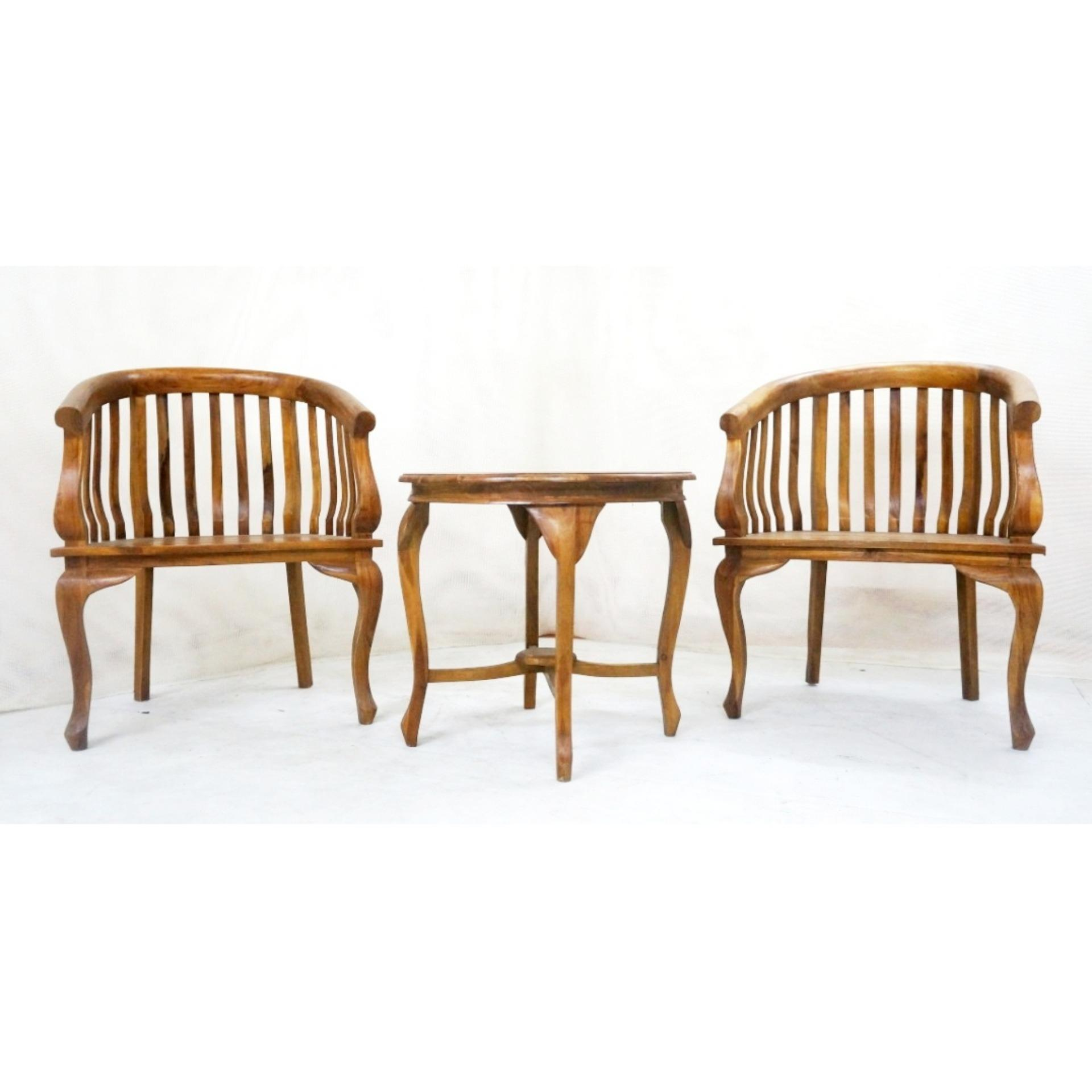 Philippines Linden Teak Handcrafted Solid Wood Lenong Coffee