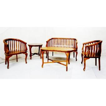 Linden Teak Handcrafted Solid Teak Wood Lenong Sofa Living Room Furniture Set (Gold Teak Series Indoor Design) Price Philippines