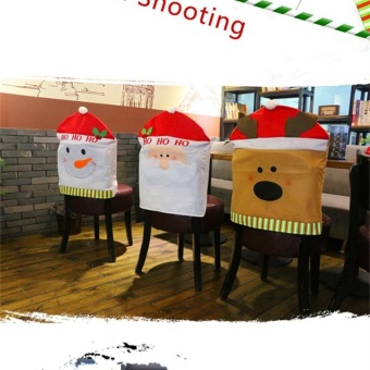 LingStar Christmas Snowman Chair cover Kitchen Seat Back Home Party Decoration 50cm*60cm - intl