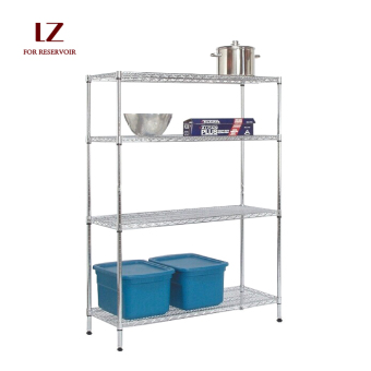 Liuzhengxuan 120 cm x 30 cm 4-layer Floor Stainless Steel Storage Rack
