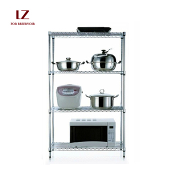 Liuzhengxuan 80 cm x 45 cm 4-layer Floor Stainless Steel Storage Rack