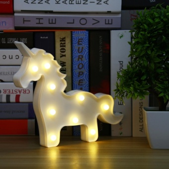 Live Birds Cute Christmas LED Night Light Toy for Baby Kids BedroomHome Decorative Lamp Models:Unicorn Color:Warm white - intl