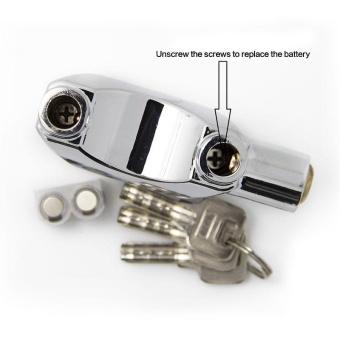 Live Birds Kinbar Alarm Padlock for Door/Motor/Bike/Car 110dbAnti-Theft Security Lock Set with Batteries - intl - 4