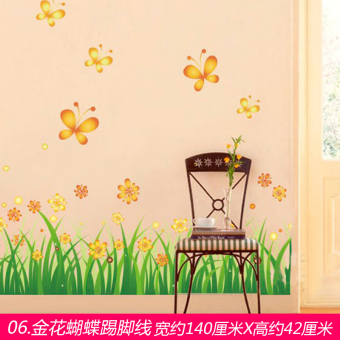 Living room bedroom bathroom wall adhesive paper wall stickers