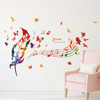 Living room bedroom library music wall stickers